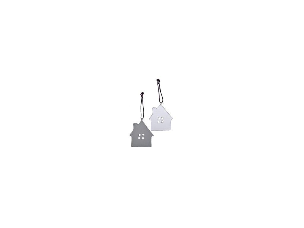 Keramický domeček 3- bílý
