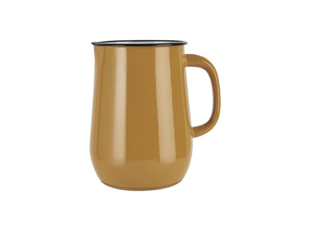 džbán smaltový žlutý ib laursen