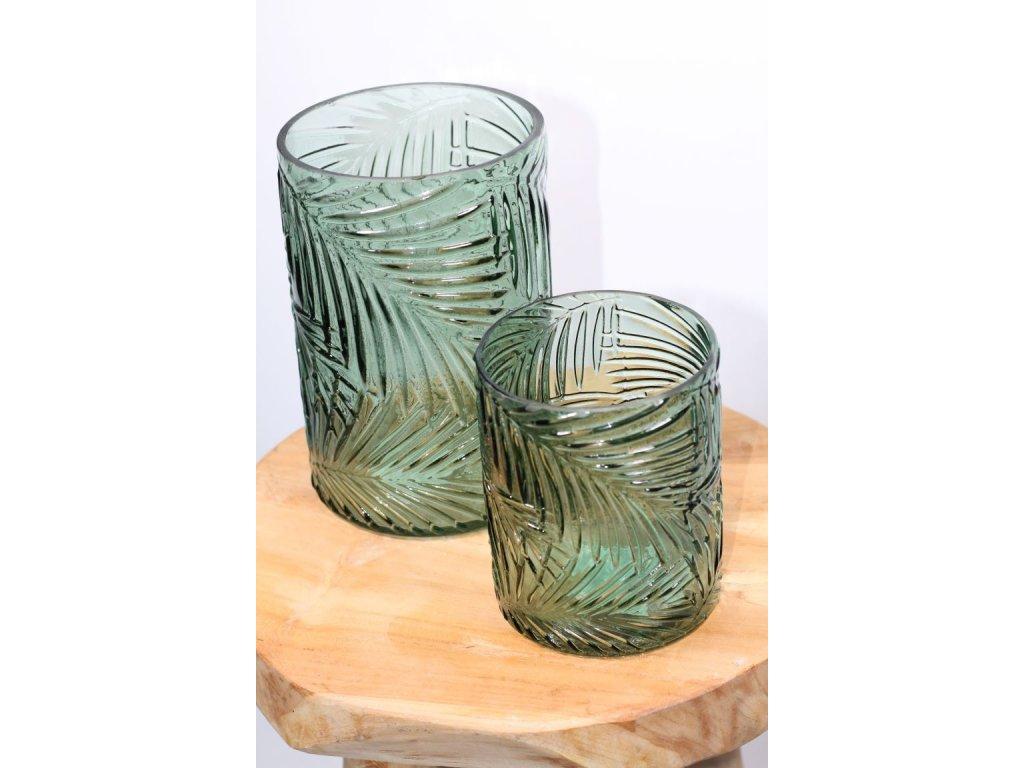 svícen sklo zelený