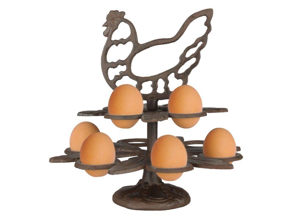 litinový stojánek na vajíčka