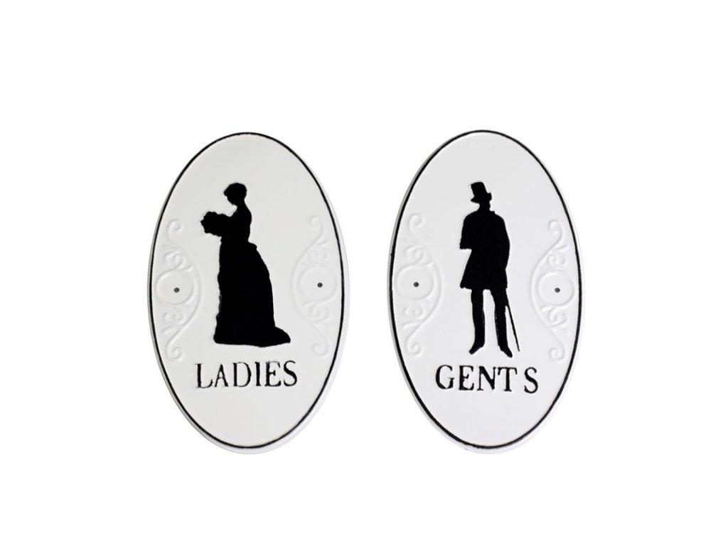 plechové cedule muži ženy
