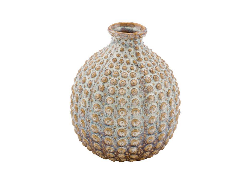 váza keramická hnědo béžová
