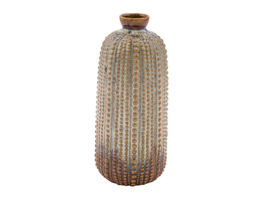 váza keramická béžovo hnědá