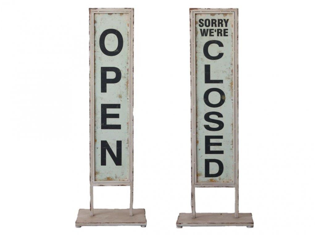 cedule open closed plechová