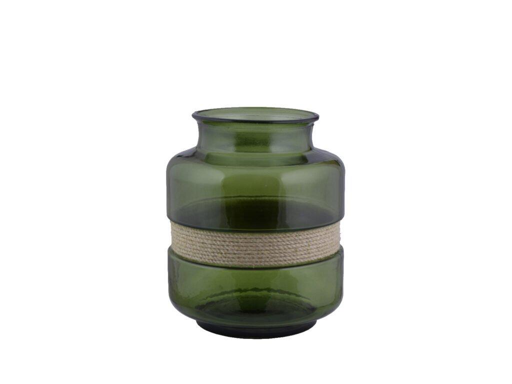 váza olivově zelená 25cm