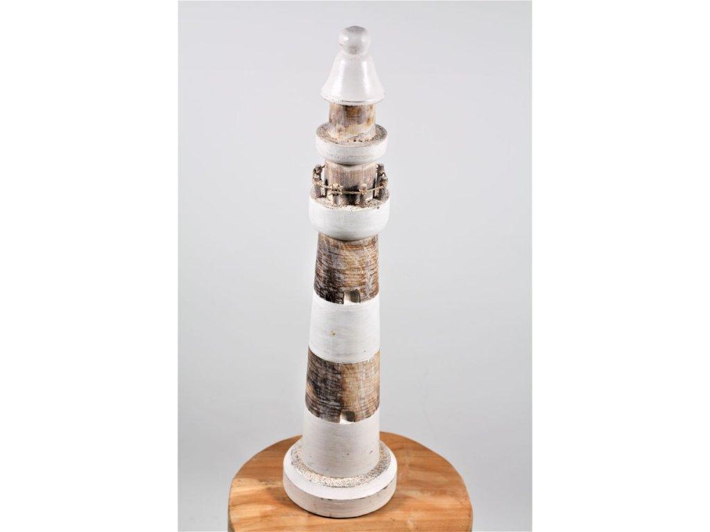 maják dřevěný bílý