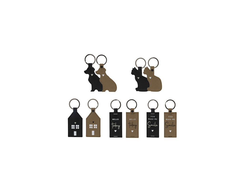 Klíčenka Bastion Collections pes černý  8cm