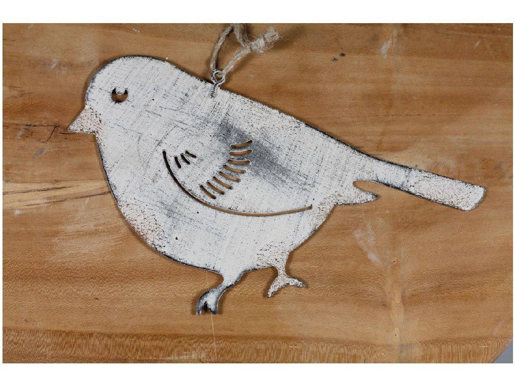 ptáček plechový patina