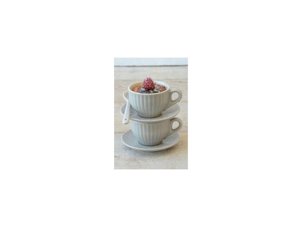 Keramický šálek s podšálkem mini Mynte latte