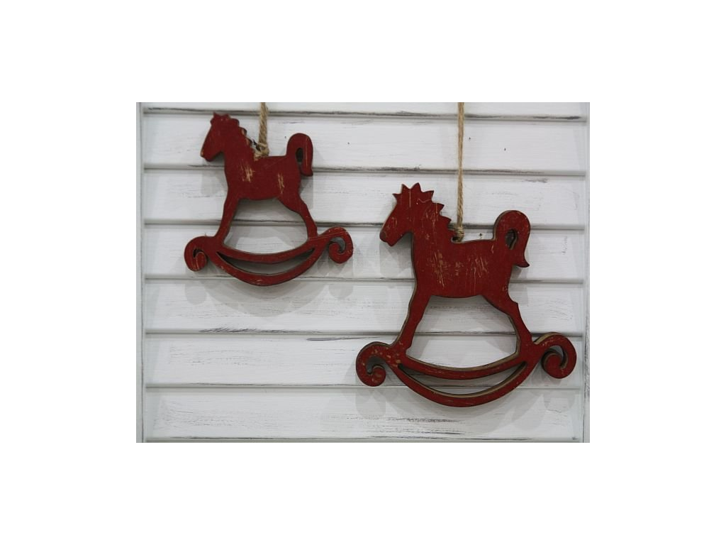 Koník závěsný červený- větší