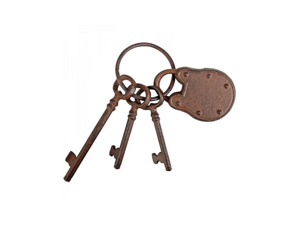 Svazek klíčů se zámkem