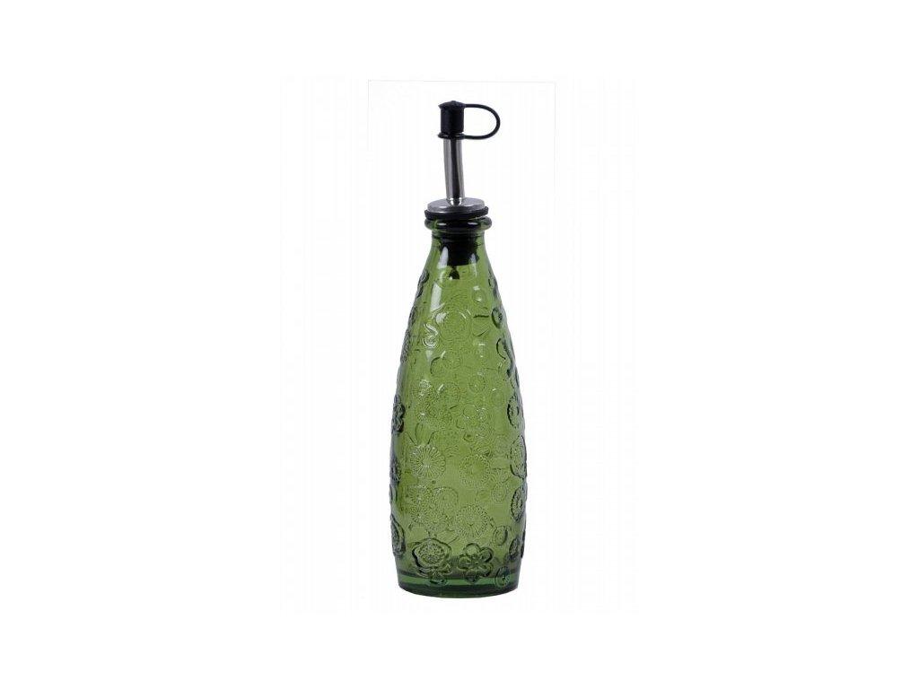 Láhev s nalevkou Flora zelená