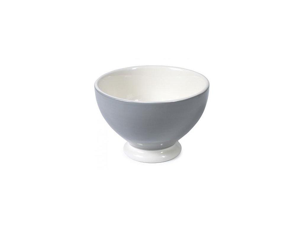 Miska keramická šedá jednobarevná O14,5 cm