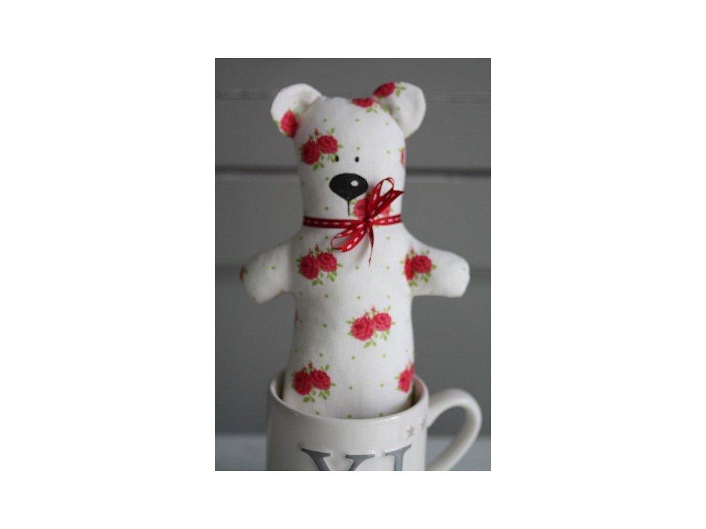 Medvěd ručně šitý růžičky