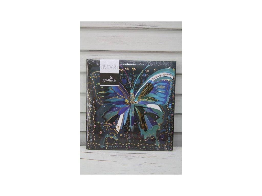 Notes motýl tmavý 16,5cm Turnowsky