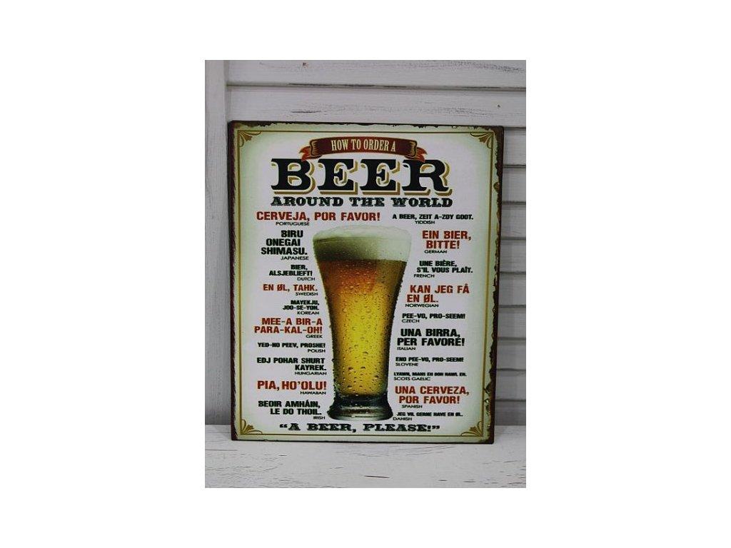 Plechová cedule Beer