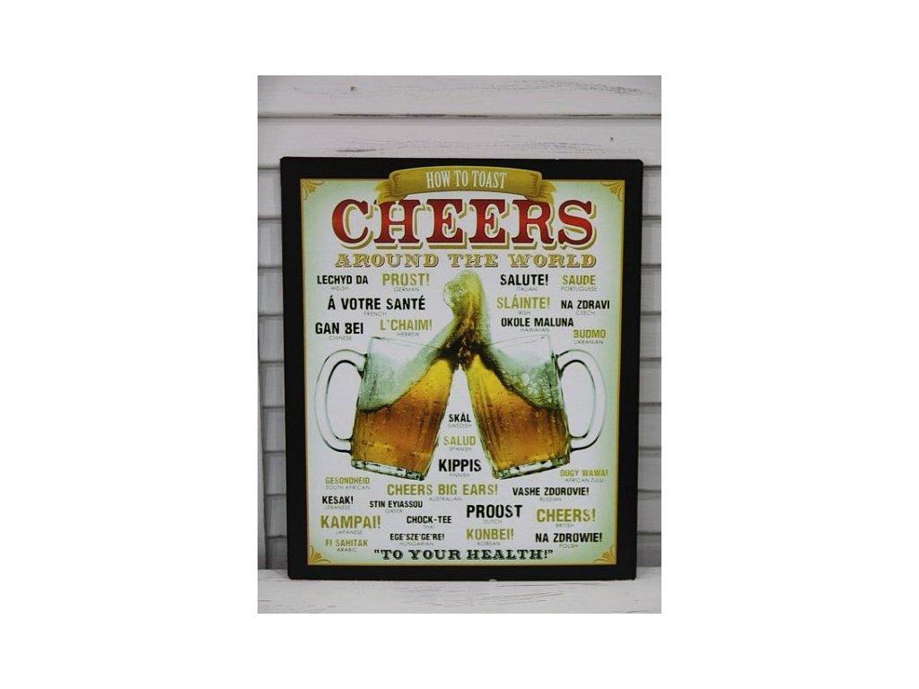 Plechová cedule Cheers
