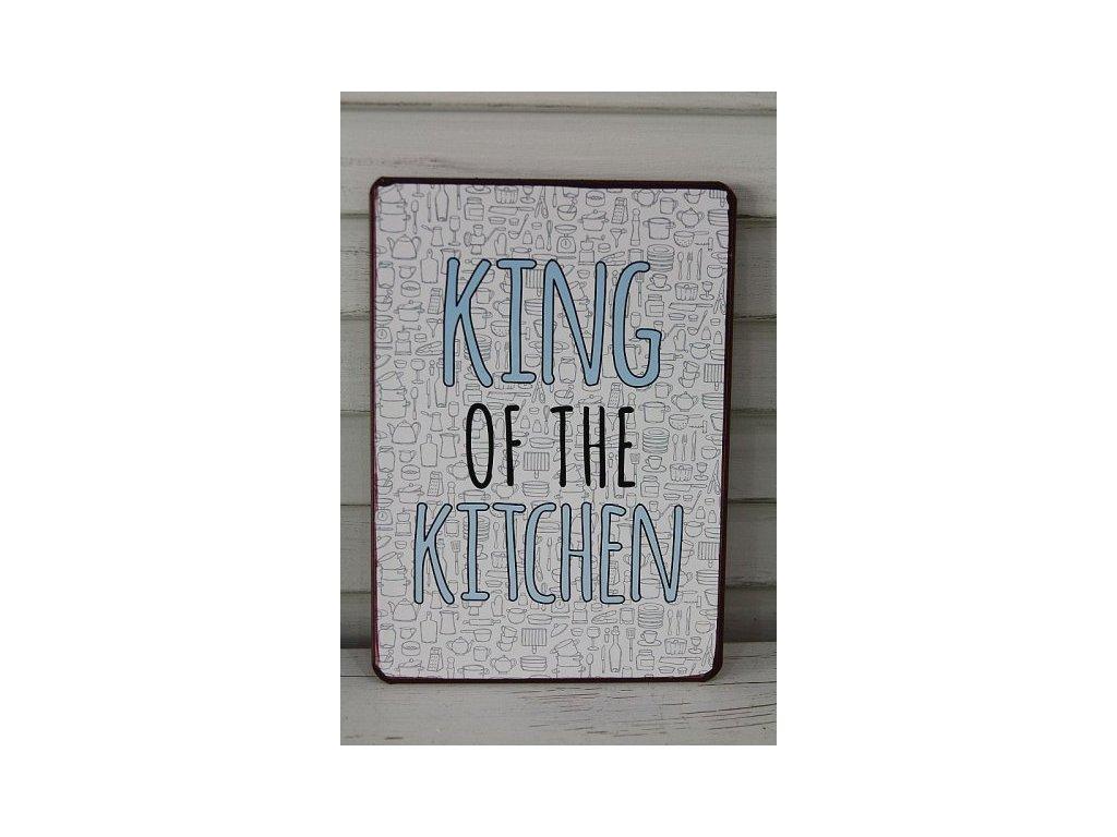 Plechová cedule King of grill