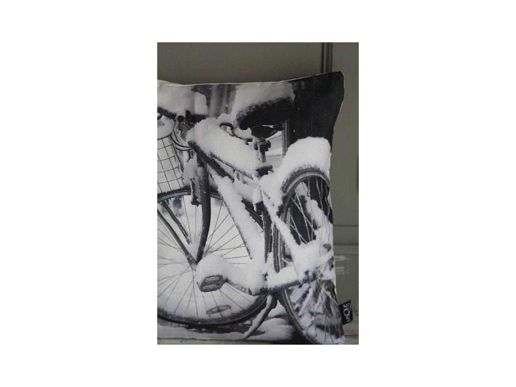 Povlak na polštář kolo zasněžené