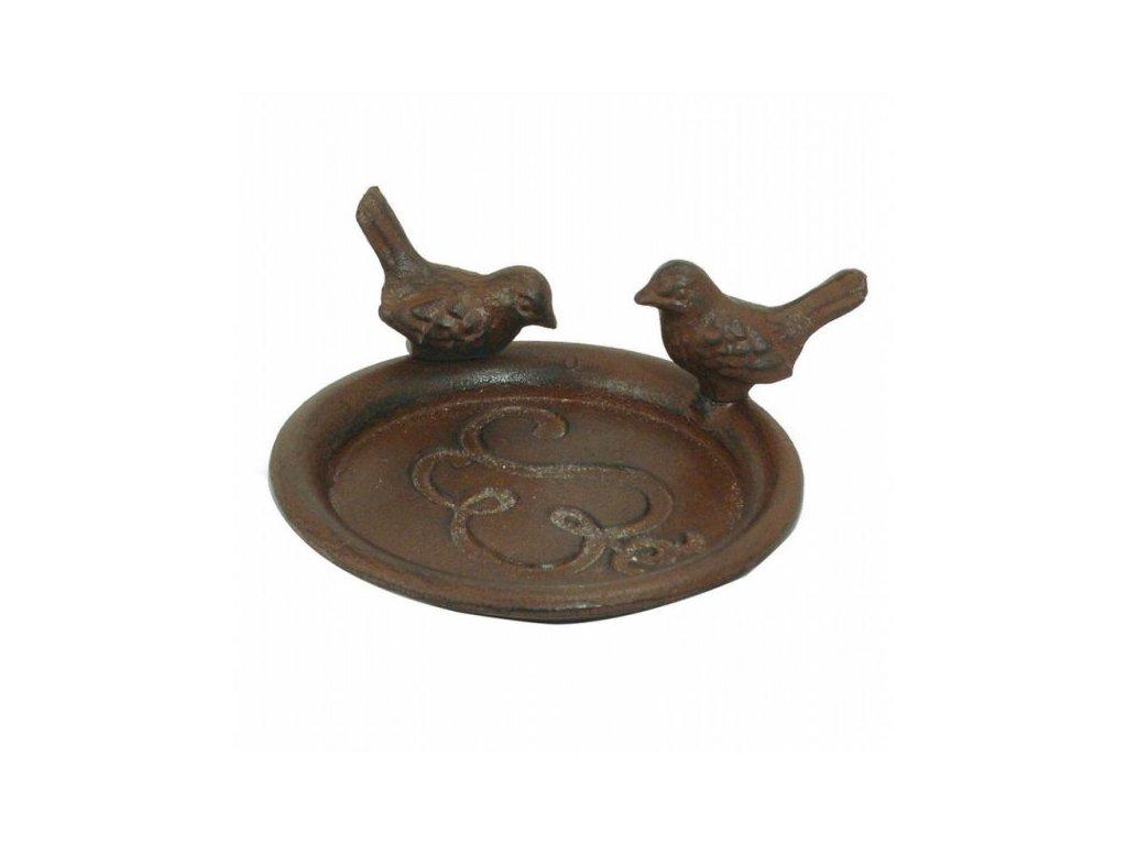 Krmítko miska s ptáčky antik
