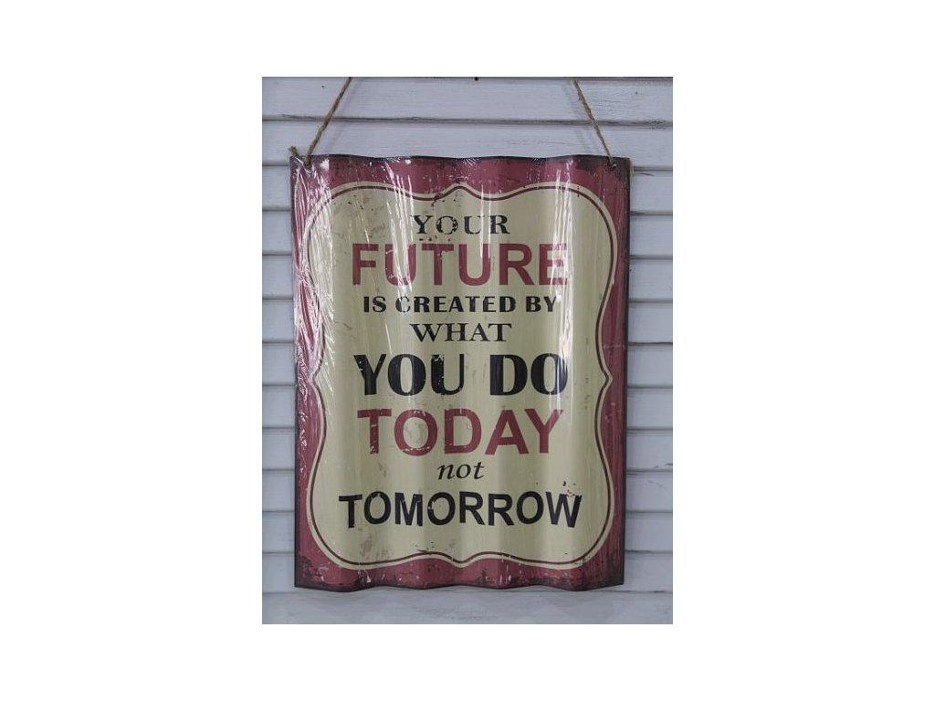 Cedule Your Future červená