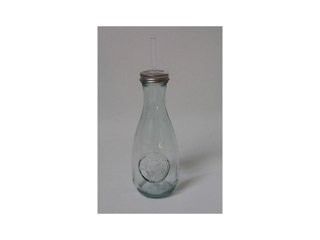 Skleněná lahev Authentic s brčkem 1.