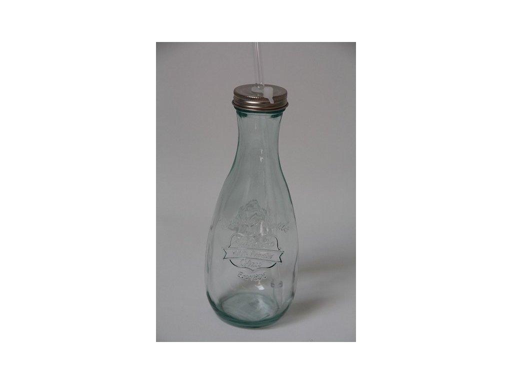 Skleněná lahev Authentic s brčkem 2.