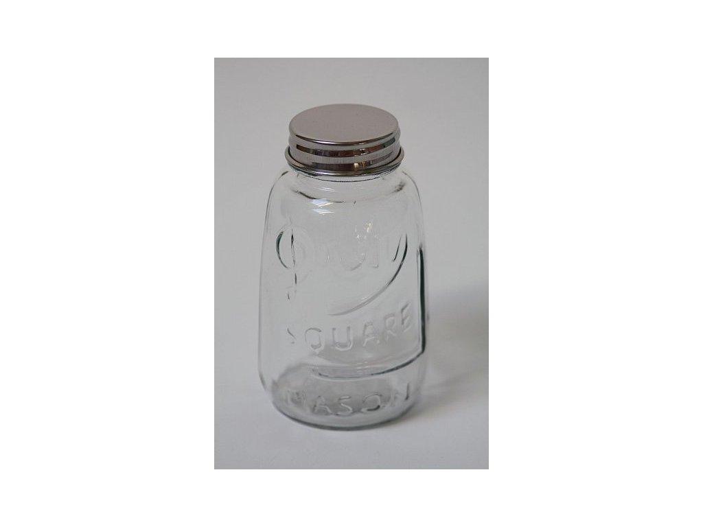 Skleněná lahvička s kovovým víčkem 1.