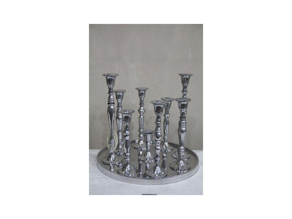 Svícen stříbrný na 9 svíček