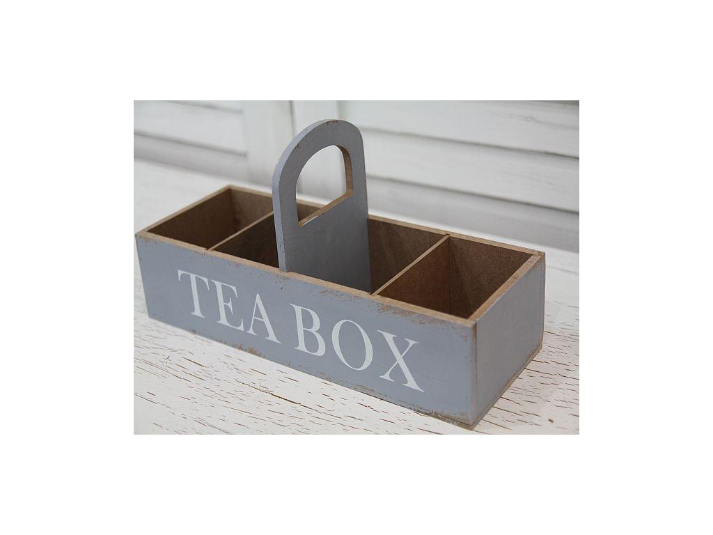 Tea box s uchem modrý