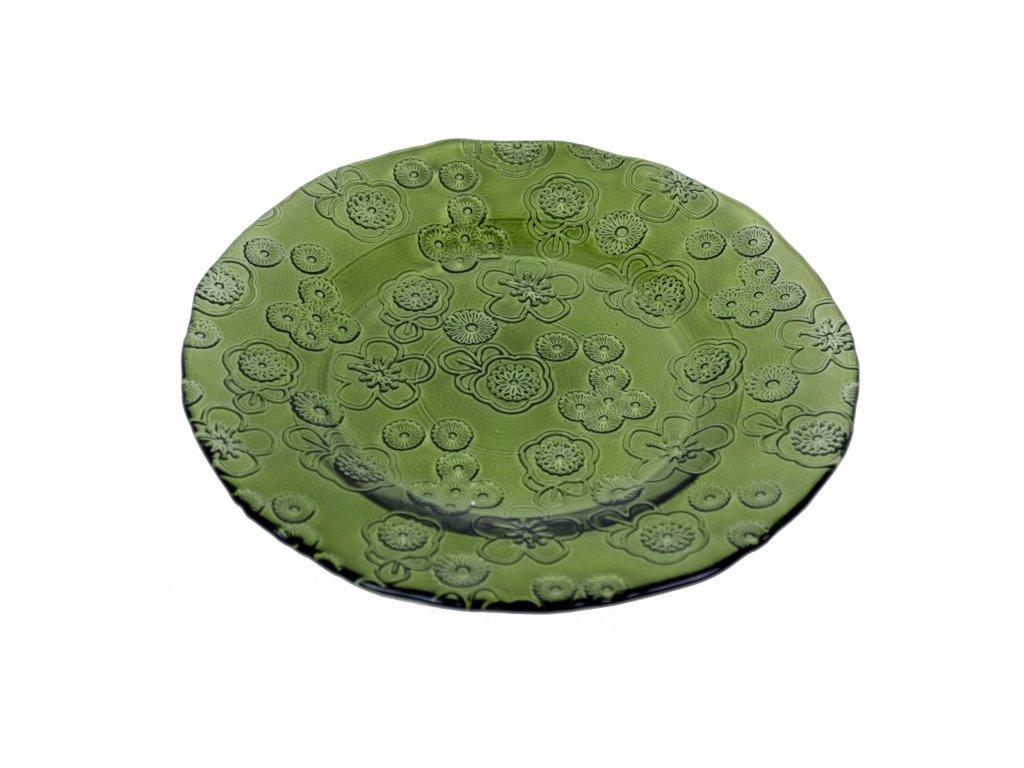 Talíř Flora zelený 20cm