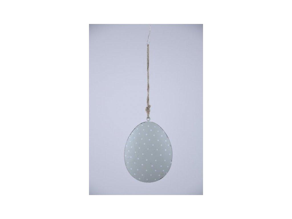 Vajíčko plechové mint puntík