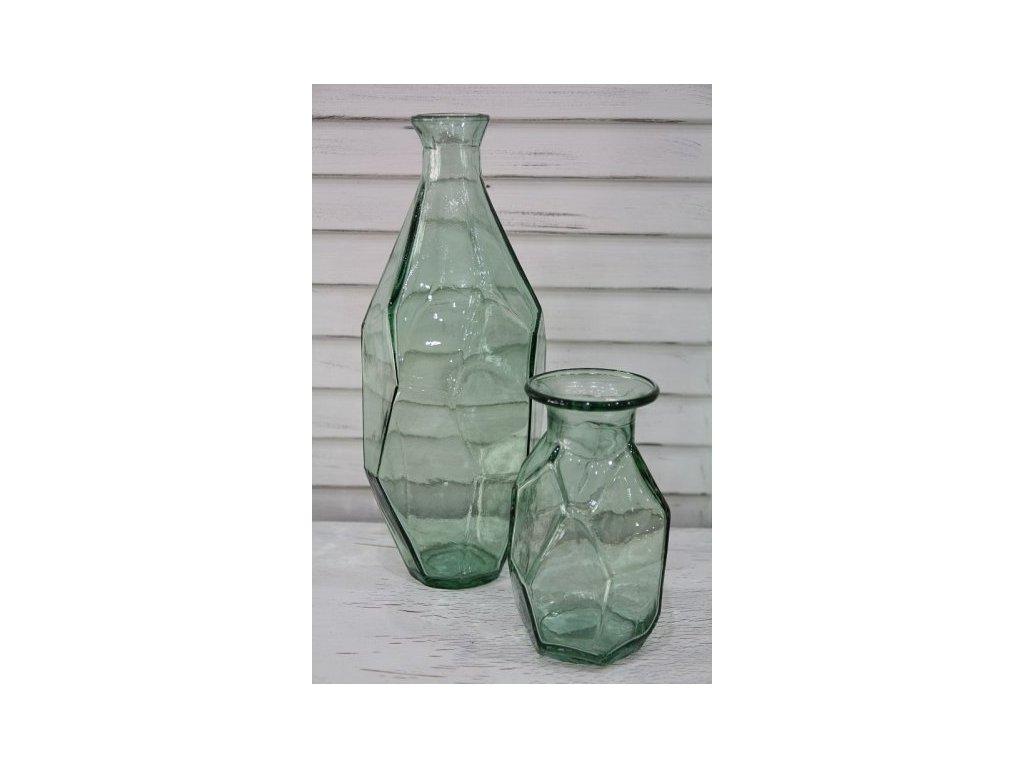 Váza skleněná zelená- větší