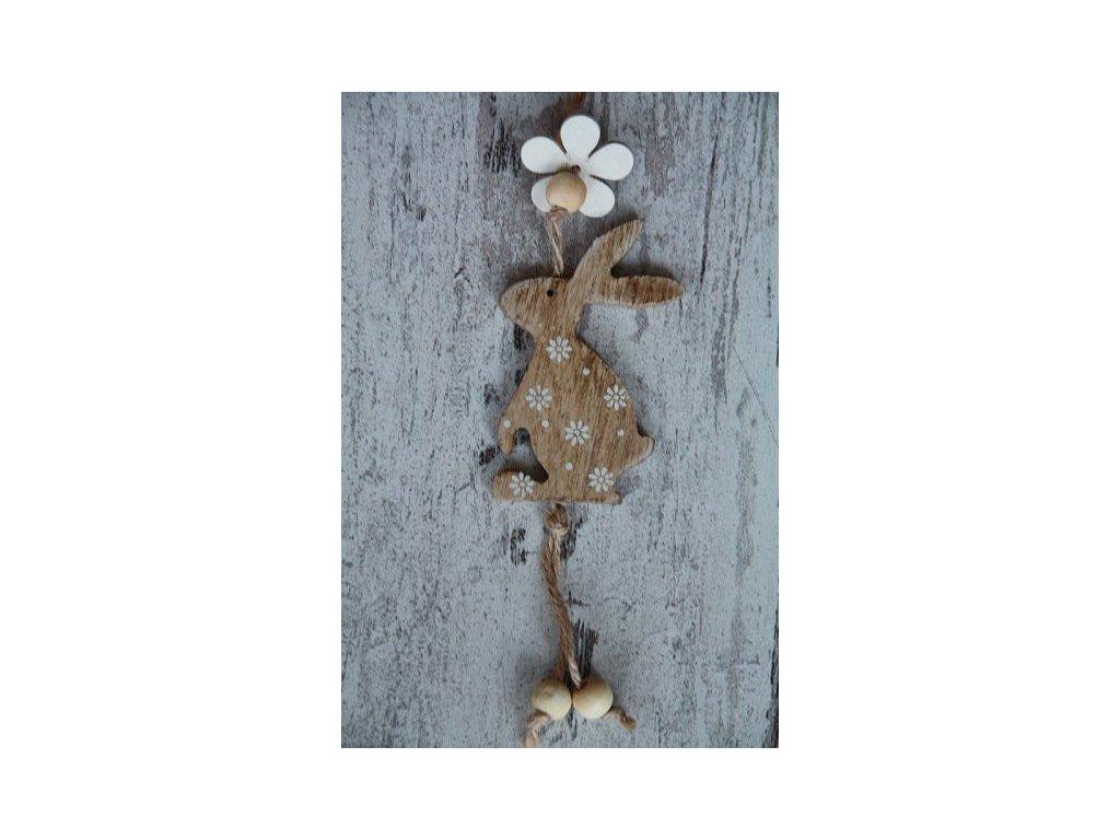 Zajíček dřevo závěs 1. přírodní