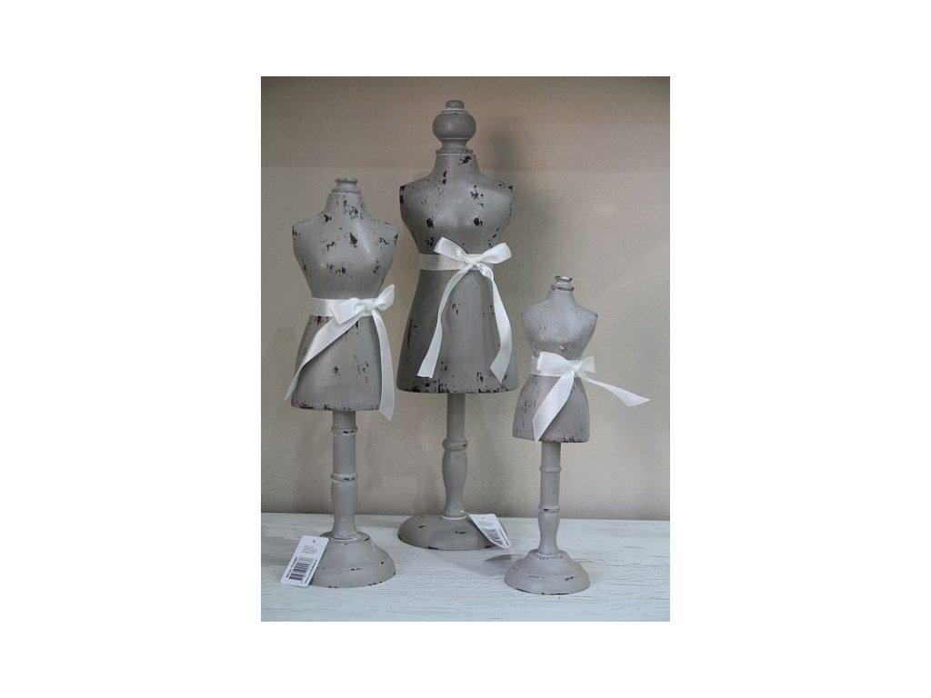 Panna šedá dřevěná- prostřední