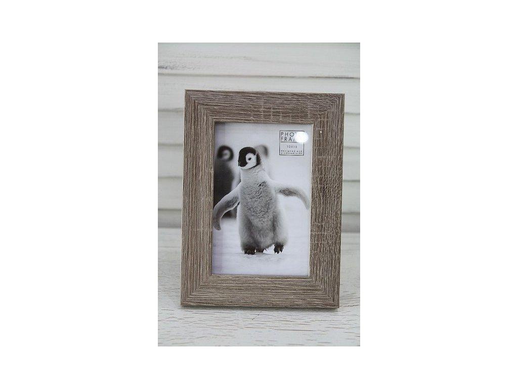 Fotorámeček dřevo 3.- tučňák