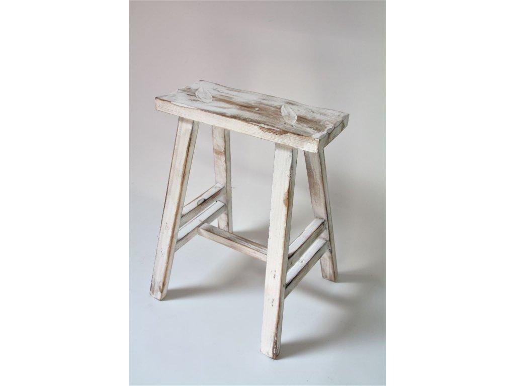 stolička bílá 3