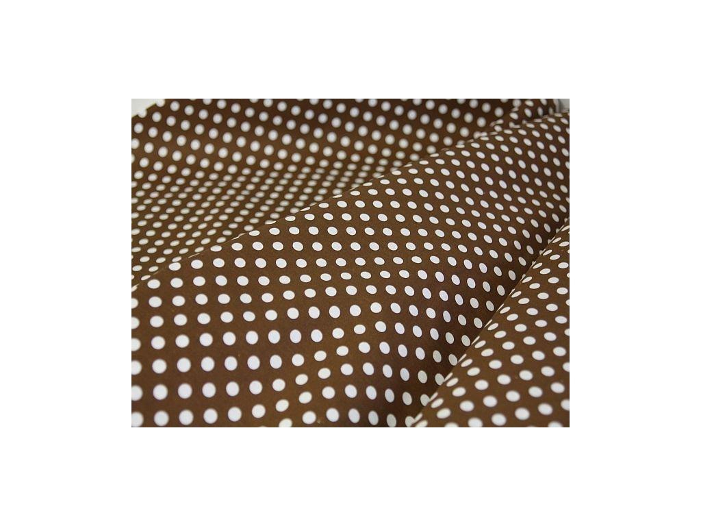 Metráž hnědá- puntík 1,80m