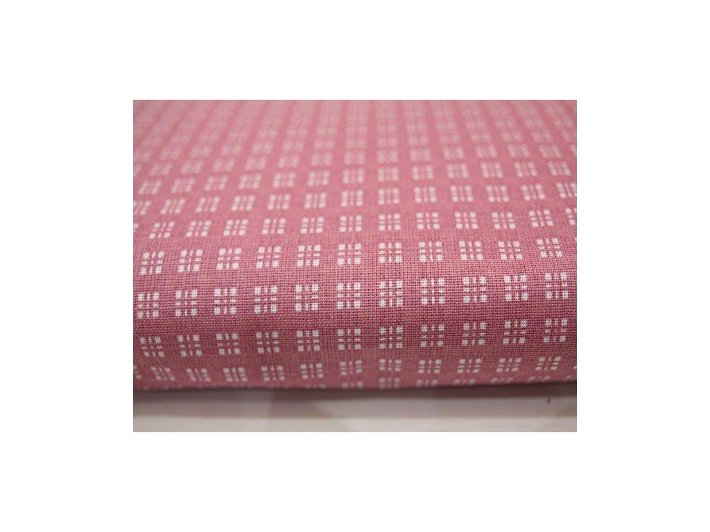 Metráž růžová kostka
