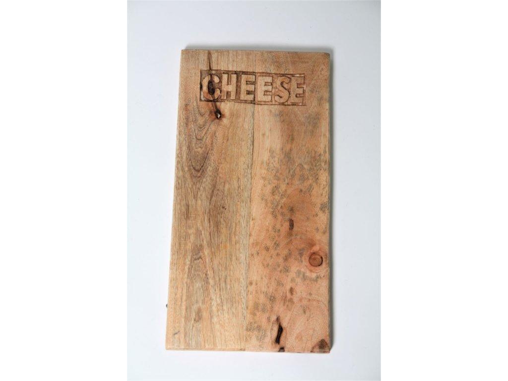 Prkénko dřevěné CHEESE menší