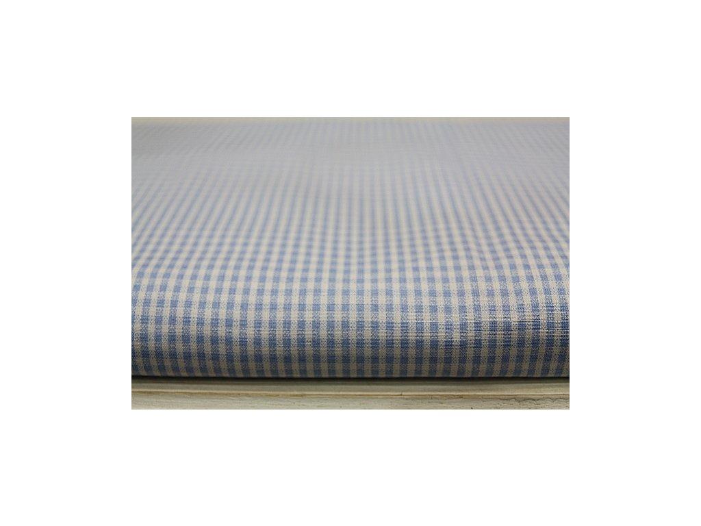 Metráž světle modrá mini kostička 4,30m