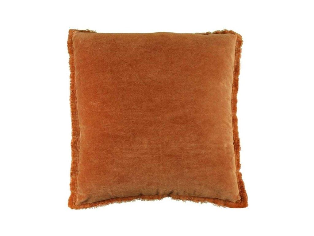 Polštář Feline Leather brown 45x45cm