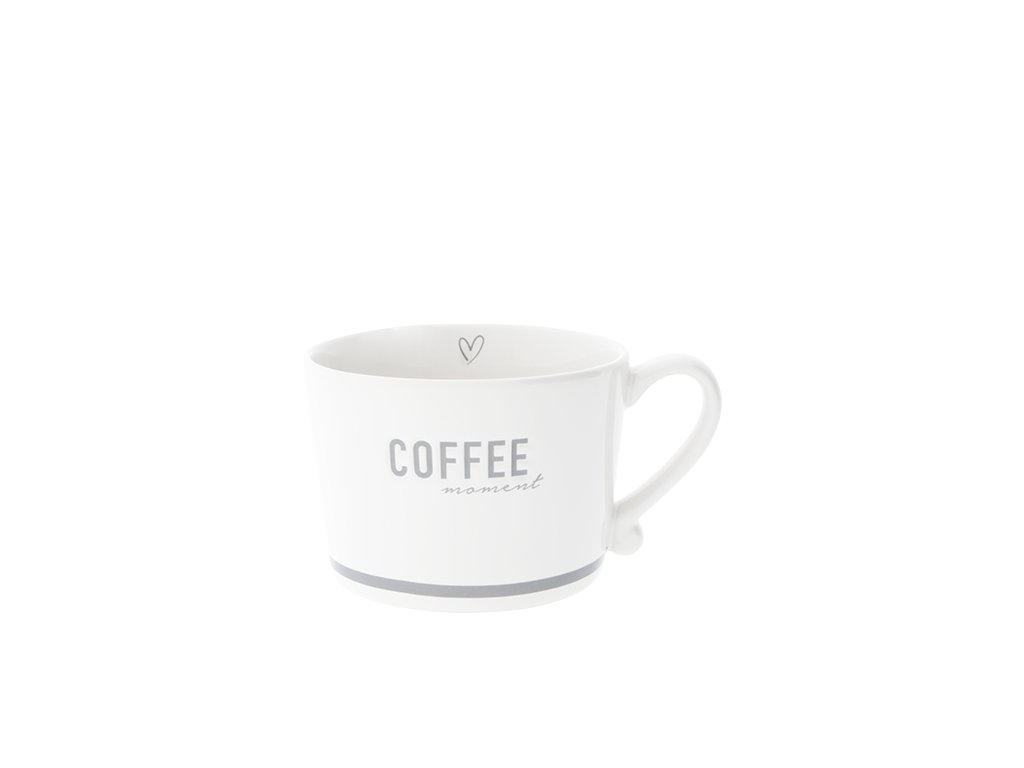 Hrnek Bastion Collections Nápis COFFEE moment šedý 300ml