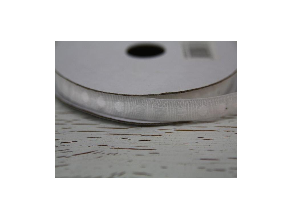 Stuha bílý puntík jednobarevná