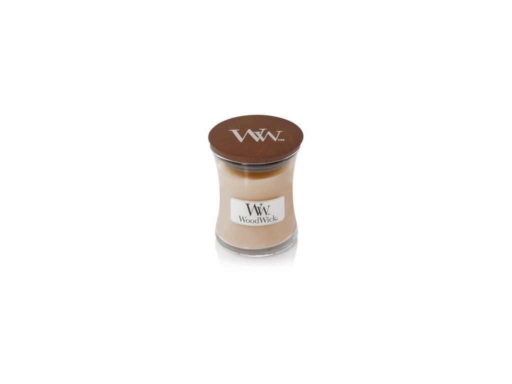 WoodWick White honey sklo malé