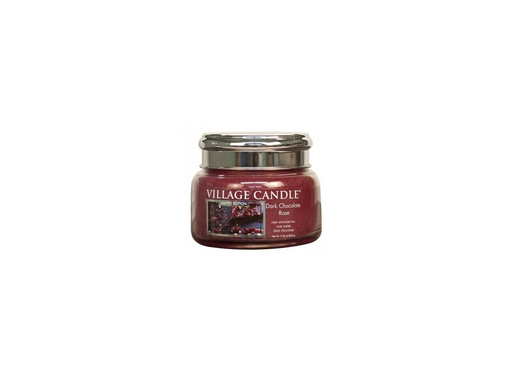 47152 13586 village candle vonna svicka ve skle cokoladova ruze dark chocolate rose 11oz
