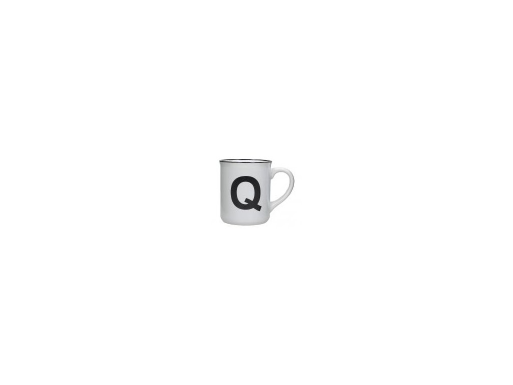 Hrnek s písmenem Q