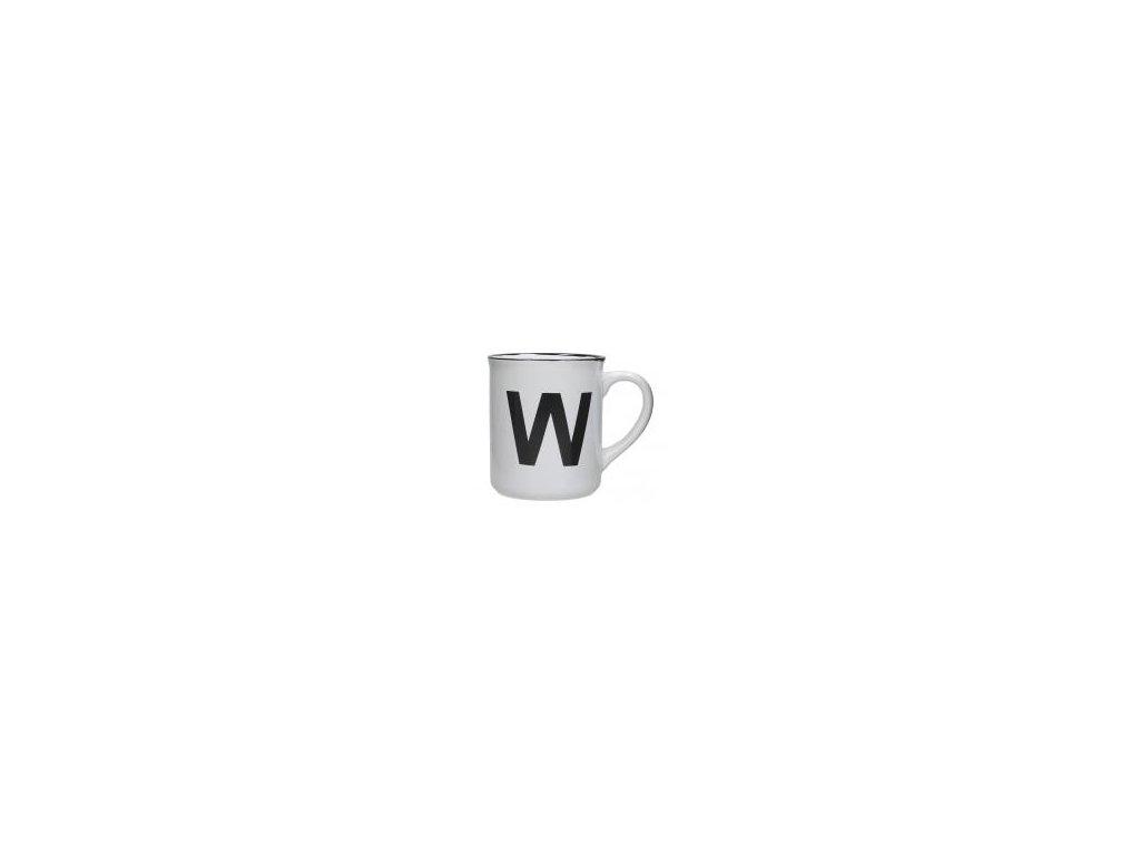 Hrnek s písmenem W