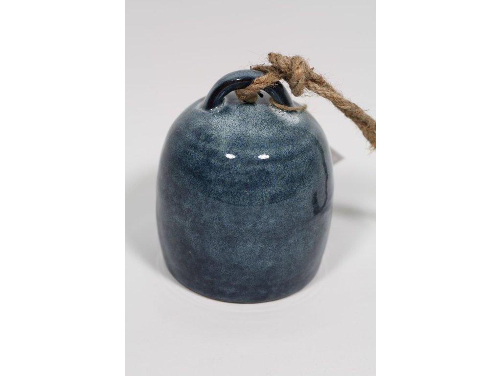 Keramický zvonek modrý