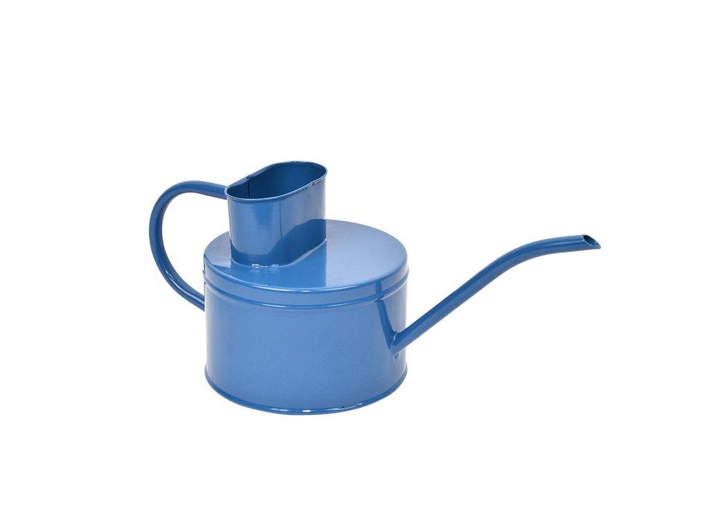 konvička plechová modrá